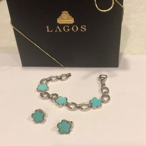 Lagos Caviar 925 Sterling Silver  & Earrings